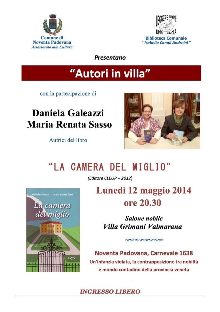 Prossima presentazione a Noventa Padovana...